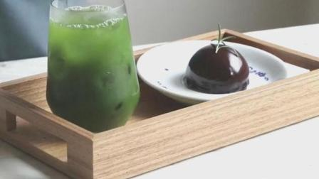 4分钟学会绿茶巧克力慕斯蛋糕, 免烤箱版, 你喜欢吗?