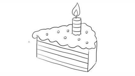可爱好吃的小蛋糕亲子绘画儿童简笔画视频 宝宝轻松学画画