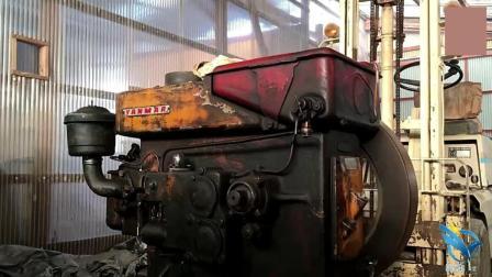 几十年前的日本柴油机, 启动后的声音, 给人还能再用七八年的信心!