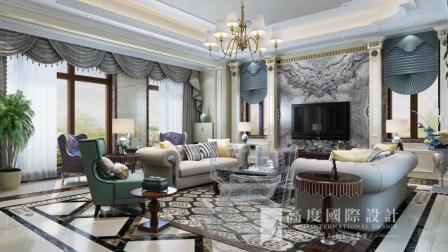 杭州莱蒙水榭山500㎡别墅装修设计——欧式新古典风格