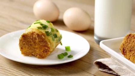 创意早餐, 美味的葱花肉松吐司卷这样做