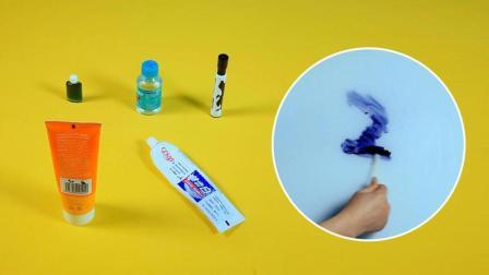 记号笔不小心写在了白板上, 测试5种清除的方法哪种最有效