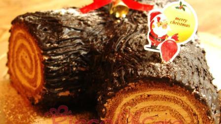 圣诞树桩蛋糕做法-精致又美味的饭后小甜点-快来试试看