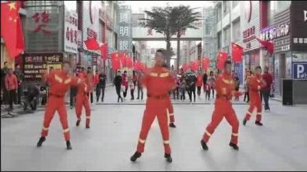 """消防官兵街头上演""""橙色快闪"""" 预热119宣"""