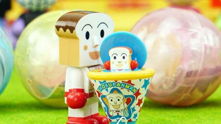 玩具口袋 第一季 面包超人之派对开关人偶玩具 1226