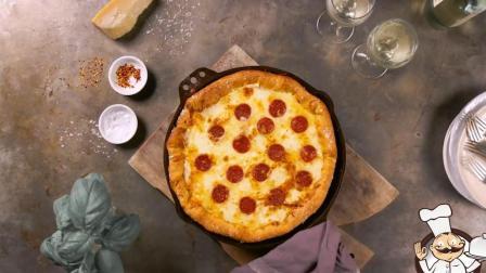 手把手教你做意大利辣香肠披萨, 全部材料自己做!