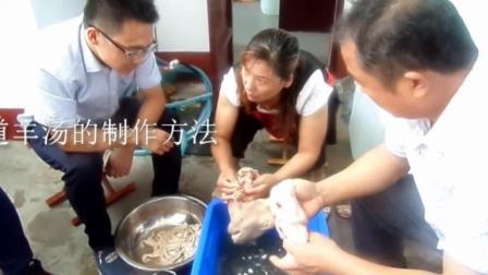 东北羊汤配着烧饼一起吃的做法 羊肉汤羊杂汤单县13011646426