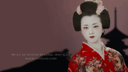 香港星级化妆师给大家示范画日本艺妓妆啦!