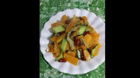 好吃的素炒南瓜片, 做法超简单, 来小清新一场吧!
