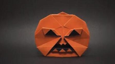 教你折一个万圣节的南瓜! 简单又漂亮的手工折纸大全图解! 创意diy纸艺