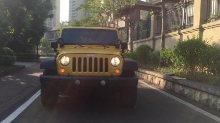 黄江二手车新到黄色JEEP牧马人, 霸气上道是车让三分!