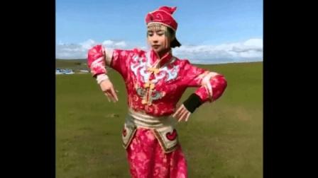 呼伦贝尔大草原美女跳起民族舞蹈, 好美丽