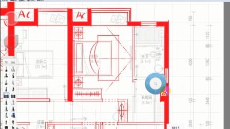 最新室内设计教程(方案设计/户型优化)全套设计第十节: 主卧的整体布局和绘制