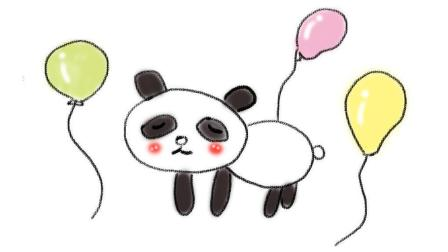 教小朋友画一只飞天小熊猫亲子卡通画 宝宝轻松学画画