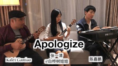 中美乐手尤克里里键盘弹唱《Apologize》