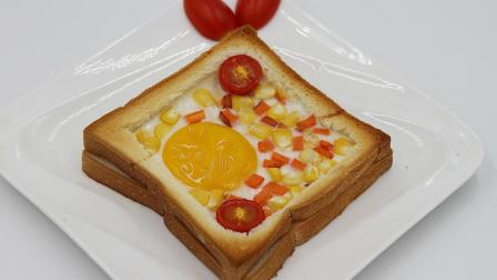 懒人微波炉早餐, 1分钟搞定, 简单美味!
