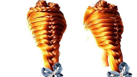 2017年流行的蜈蚣辫编发视频教程! 时尚美发造型扎发技巧一步一步教的步骤!