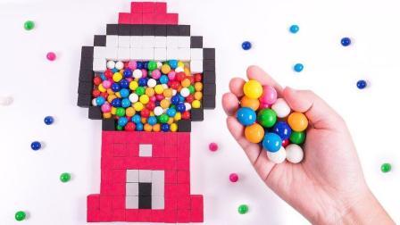 太空沙巨人口香糖机块糖果儿童学习英语颜色彩虹果冻胶体冰淇淋锥太空沙【俊和他的玩具
