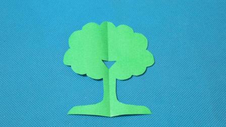 剪纸小课堂609: 小白杨树 儿童剪纸教程大全