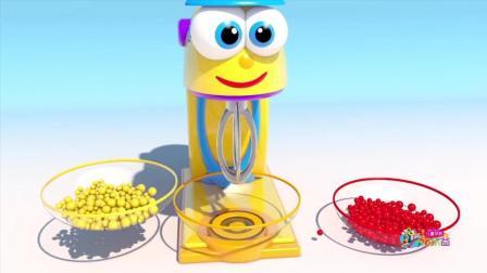 儿童早教欢乐谷 2017 搅拌混合彩虹糖学习颜色 制作冰淇淋学习字母和颜色 169