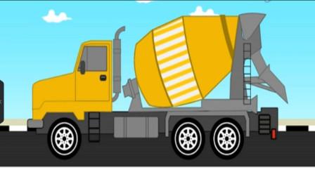机工作吊车大卡车 挖掘机表演视频 水泥车