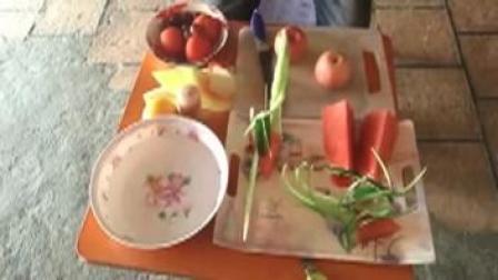 【学做水果拼盘】水果拼盘教学视频 果拼盘、加苹果