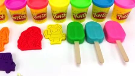 制作冰淇淋的玩具模具之做汉堡和蛋糕玩具视频2