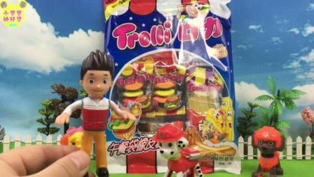 汪汪队立大功试吃牛皮糖糖果食玩玩具