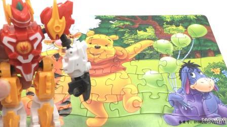 玩具SHOW斗龙战士 斗龙战士拼小熊维尼历险记拼图 60 斗龙战士拼小熊维尼拼图