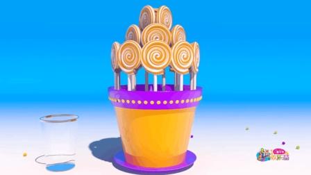 儿童早教欢乐谷 2017 制作彩虹糖冰淇淋桶 彩虹糖学习数字 170