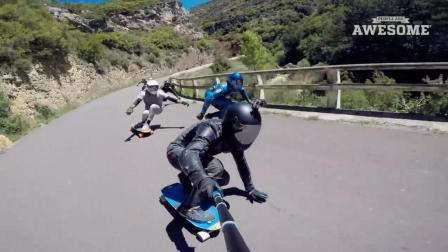 自拍杆不只是女生拍照的专利! 绑上运动相机去速降才刺激!