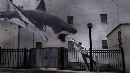 三分钟看完电影《鲨卷风》, 鲨鱼从天而降, 开始攻击人类