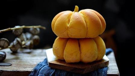 一吃就停不下来的南瓜面包, 酥脆的外皮、甜滑的内馅, 有颜值还好吃