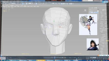 3Dmax建模-3Dmax角色建模女性人头模型制作教程二