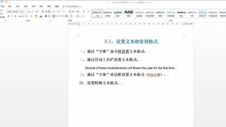 【Word2016入门到精通】第10章 设置文本的常用格式