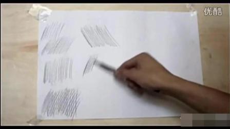 素描基础教程_素描排线的技巧_如何画出好看的素描线条_素描入门教学视频_超清