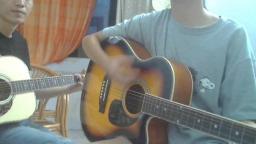 12岁小女孩 学两星期吉他 就能跟我一起弹唱 英文歌曲FADED 服了