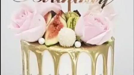 20款简单的生日蛋糕装饰法-百甲实战烘焙2017新款蛋糕装饰风格-蛋糕做法视频