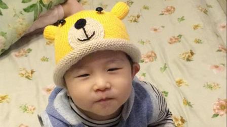 〈熊孩子〉超萌可爱的配色卡通帽保暖的宝宝帽子下集花样