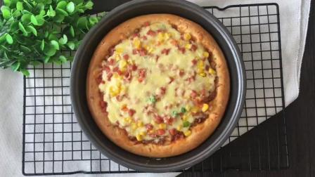 美式火腿披萨的制作方法