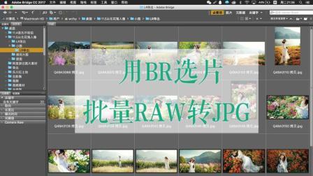 br选片和批量raw转换jpg格式的方法