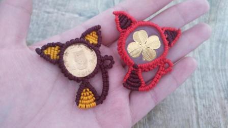硬币招财猫完整版教程! 用来做手链项链好美, 我也赶紧去学学