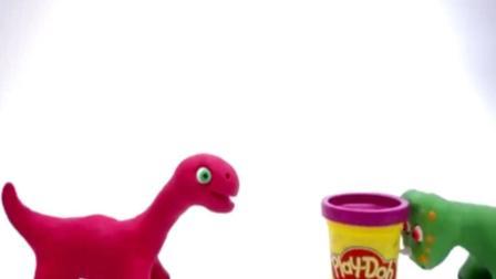 恐龙总动员动画视频之好玩的橡皮泥恐龙玩具动画视频1