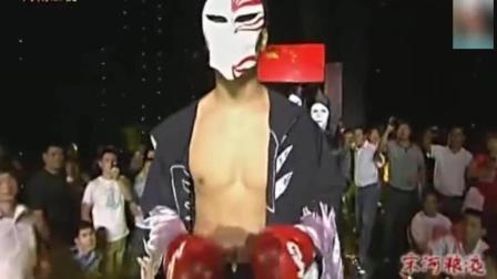 死神方便遇上日本选手下手格外的重, 一拳将他打飞出场外ko