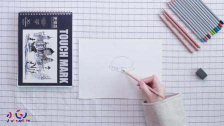 简笔画汉堡, 食物简笔画大全, 怎么画汉堡简笔画图片视频