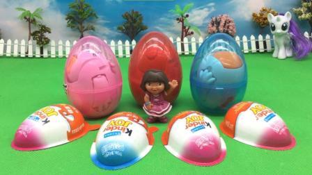 朵拉拆愤怒的小鸟惊喜蛋 健达奇趣蛋