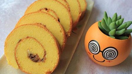 小鲁教你做糕点之汤面戚风蛋糕卷的做法, 纯手工制作, 简单易学