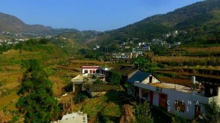 航拍贵州乡村和田野