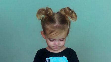 儿童短发型绑扎方法 3款幼儿短发扎发大全图解视频教程