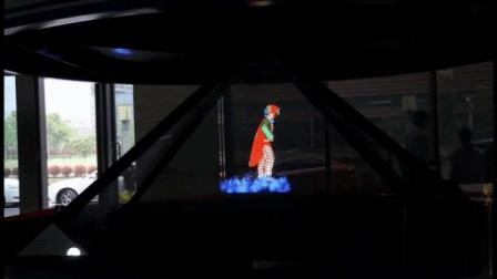 大型全息成像装置全息视频现场案例-火米互动